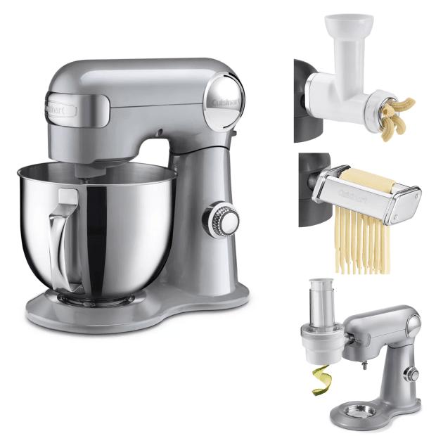 Cuisinart® Precision Master™ 5.5-Quart (5.2L) Stand Mixer Bundle- Silver