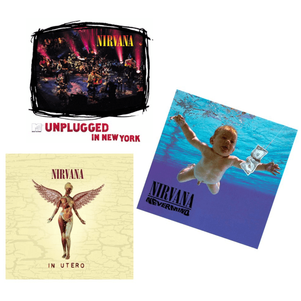 The Nirvana Vinyl Bundle - MTV Unplugged In New York, Nevermind and In Utero #1