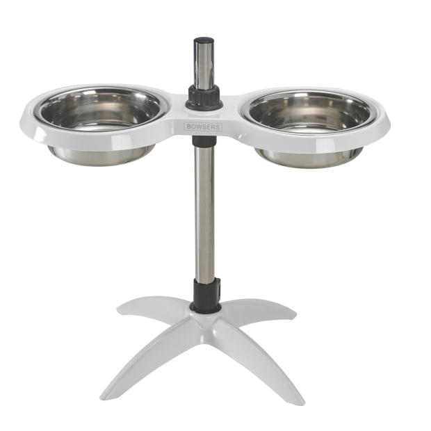 Bowsers Moderno Adjustable Pet Feeder - Bright White - Medium (8'' to 14'') #1