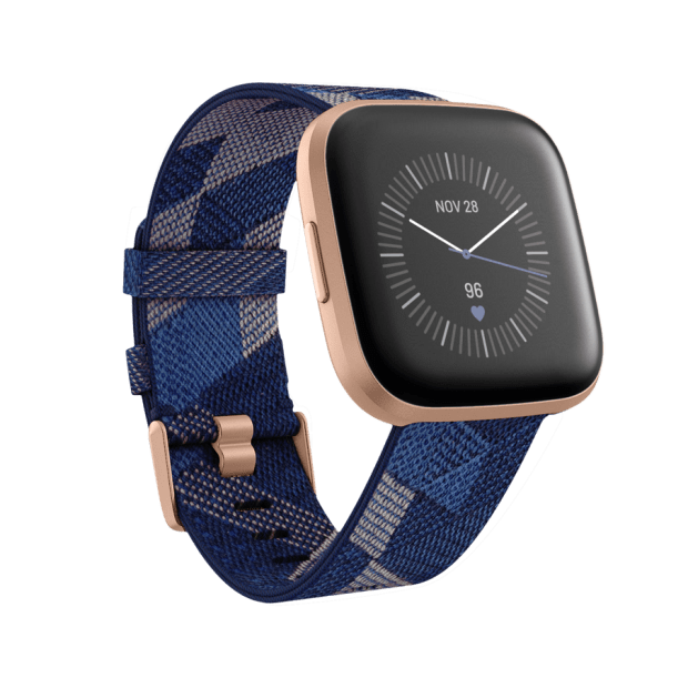 Fitbit Versa 2 Smartwatch Special Edition - Navy & Pink Woven / Copper Rose Aluminum #1