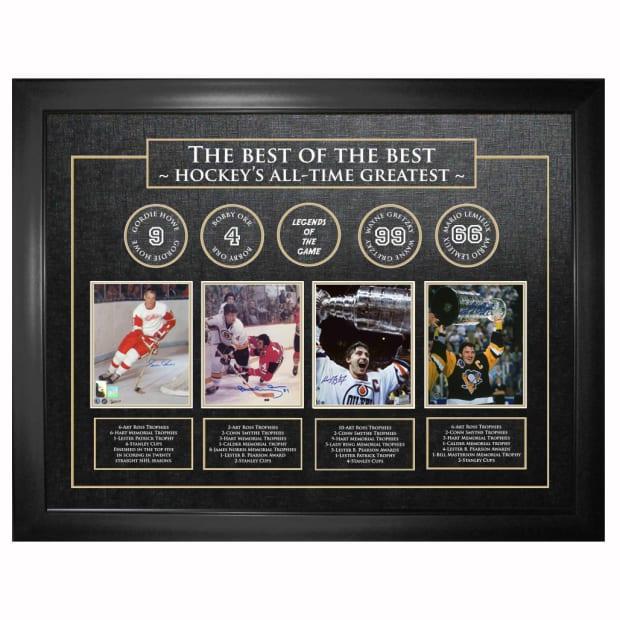 Frameworth Best of The Best Signed Howe/Orr/Gretzky/Lemieux #1