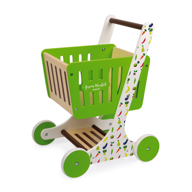 Janod Green Market Shopping Trolley (Wood) #1