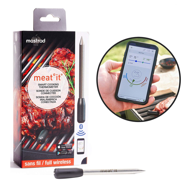 MeatIt® by Mastrad Wireless Smart Meat Thermometer - Black #1