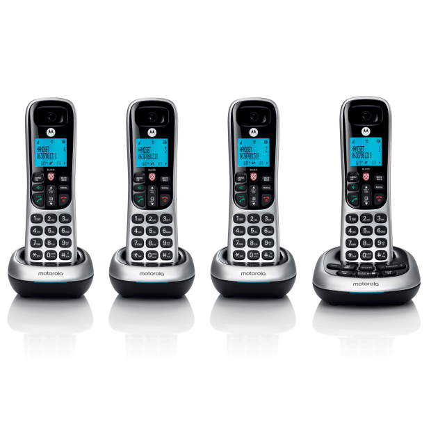 Motorola Digital Cordless Phone with Answering Machine - 4 Handsets #1
