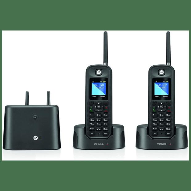 Motorola Rugged Waterproof Long Range Cordless Phone - 2 Handset #1