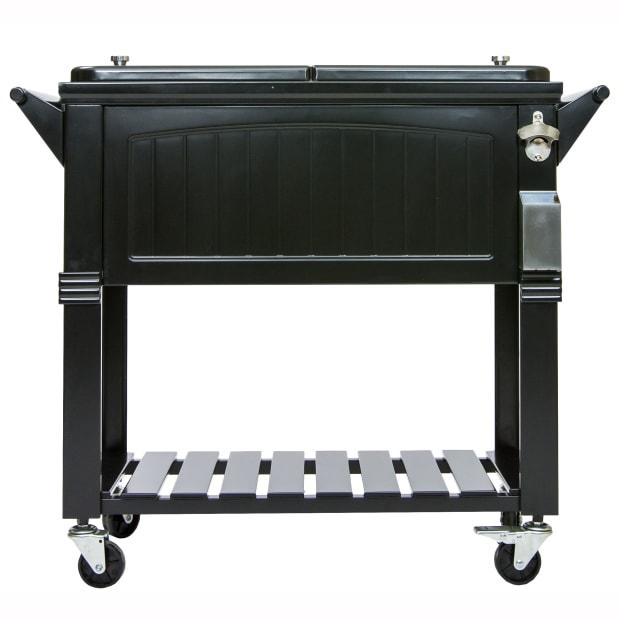 Permasteel 80-Quart Imitation Antique Patio Cooler - Black #1