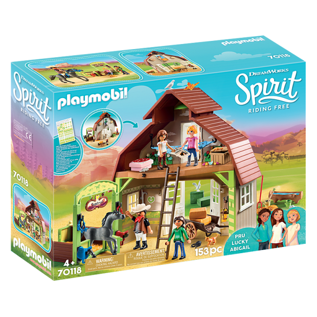 Playmobil Spirit Riding Free Barn with Lucky, Pru & Abigail #1