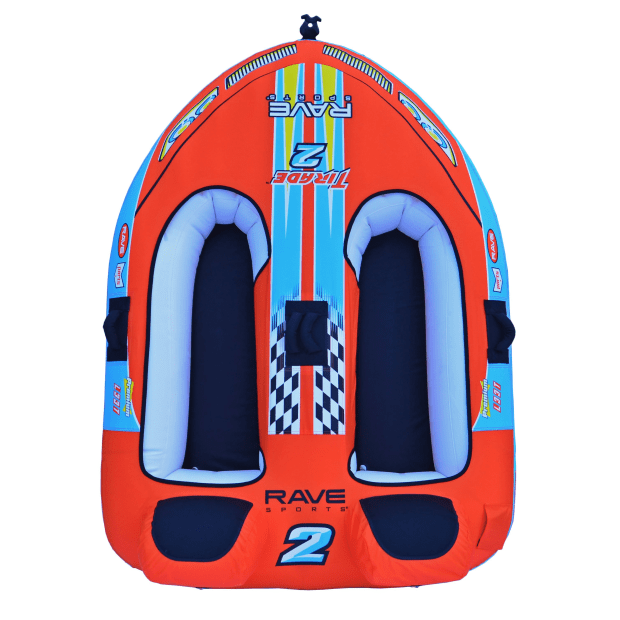 Rave Sports Tirade II 2-Rider Towable Plus Connelly Deluxe 2-Rider 60' Tow Rope #1