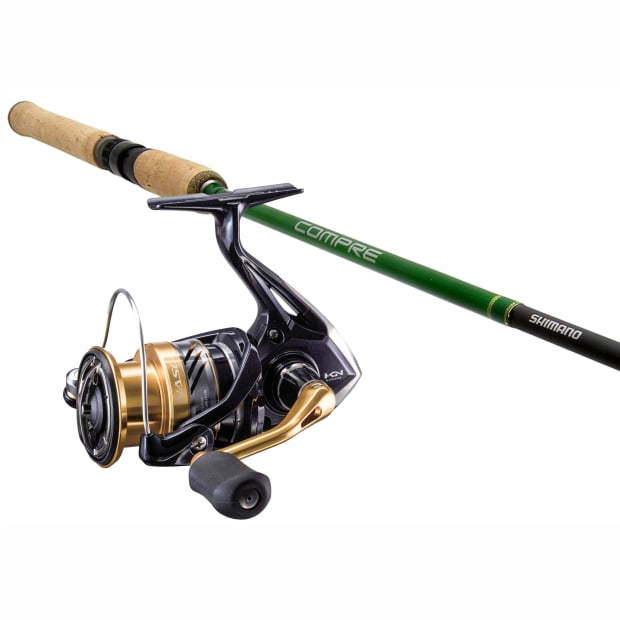 """Shimano Nasci™ Spinning Reel & Compre™ Walleye 6'8"""" 2-Piece Spinning Rod Combo"""