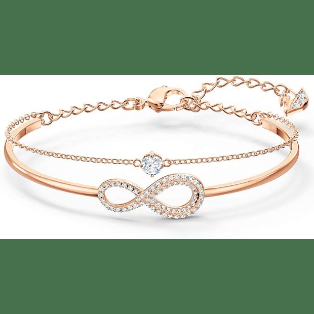 Swarovski Infinity Bangle - Rose Gold - Medium #1