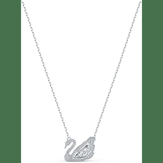 Swarovski Dancing Swan Necklace - White #1