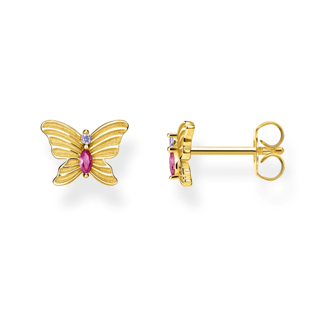 Thomas Sabo Butterfly Ear Studs - Gold #1