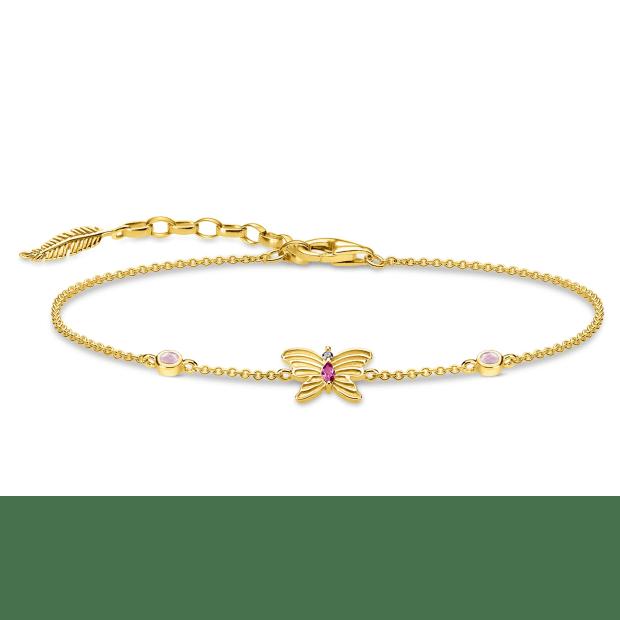 Thomas Sabo Butterfly Bracelet - Gold #1