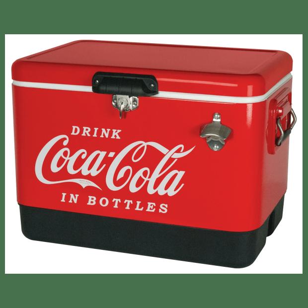 Koolatron Classic Coca-Cola Stainless Steel 54-Quart Ice Chest Cooler #1