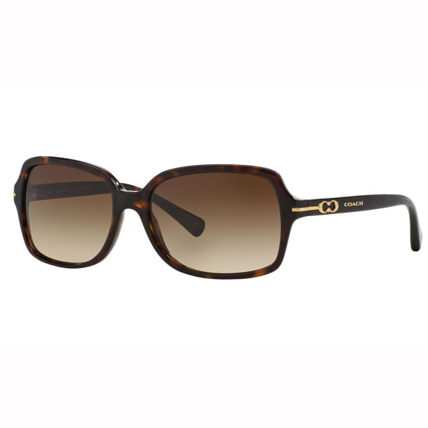 Coach L087 Blair Sunglasses -  Acetate Dark Tortoise Frames and Brown Gradient Lens #1