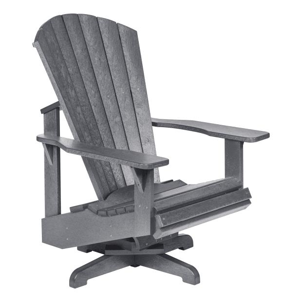 C.R. Plastic C02 Swivel Adirondack - Slate Grey