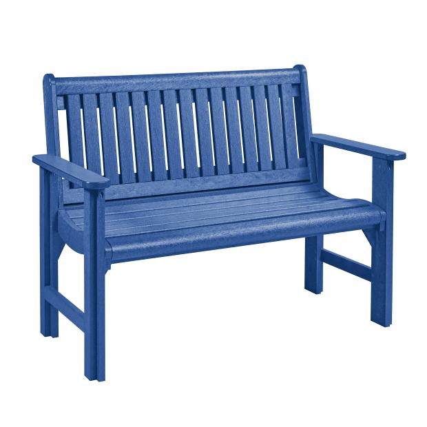 C.R. Plastic  B01 4' Garden Bench - Blue