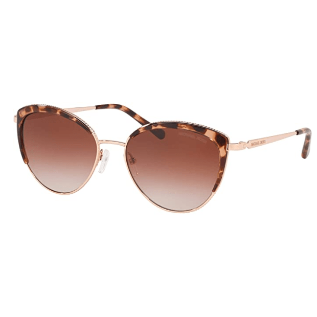 Michael Kors MK-1046 Key Biscayne Sunglasses - Rose Gold Frame with Brown Clear Gradien Lens
