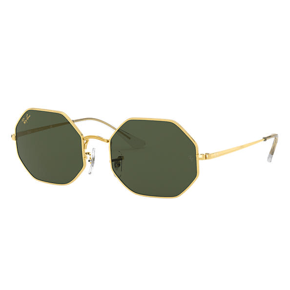 Ray-Ban Octagon 1972 Legend Gold Sunglasses - Gold/Green Classic G-15 #1