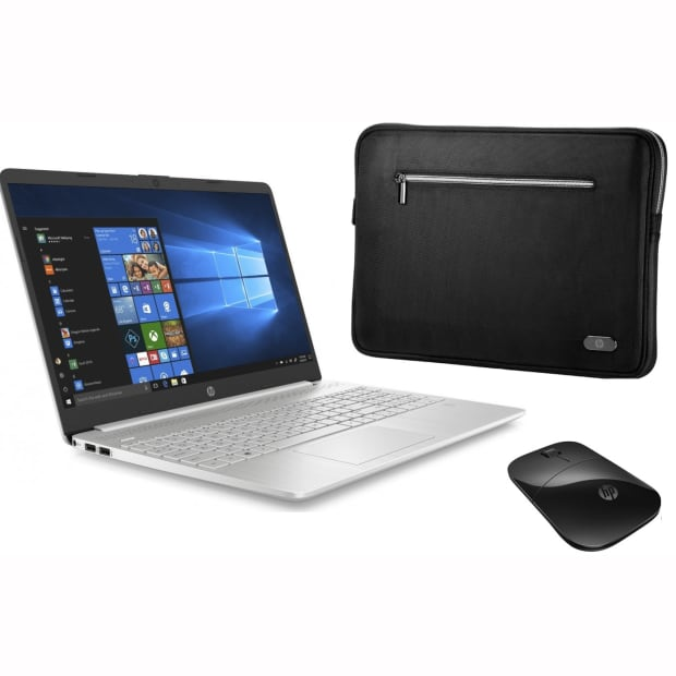 """HP 15-dy1007ca Notebook PC - 15.6"""" with HP Wireless Mouse and Laptop Sleeve"""