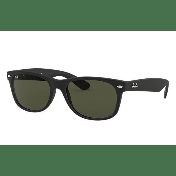 Ray-Ban New Wayfarer Classic Sunglasses - Black/Green Classic G15 #1