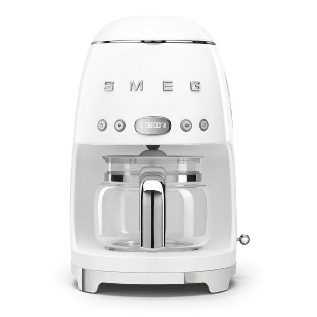SMEG 50's Retro Style Aesthetic Drip Coffee Machine - White #1