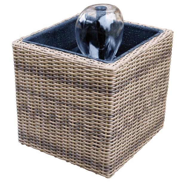 KoolScapes Wicker Urban Deck/Balcony Pond Kit #1