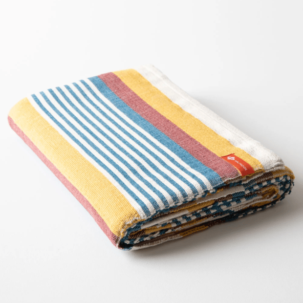 Halfmoon Yoga Cotton Yoga Blanket - Beach Stripe #1