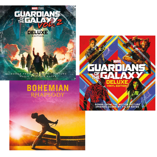 The Soundtrack Smashes Vinyl Collection - Guardians Of The Galaxy V1 (2LP), Guardians Of The Galaxy V2 (LP) & Bohemian Rhapsody (2LP)