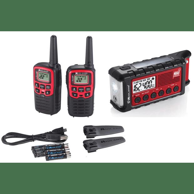 Midland® X-TALKER T31VP Walkie Talkie Two-way Radio with E+Ready® Emergency Dynamo Crank Radio