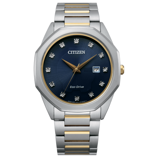 Citizen Men's Eco-Drive Corso Diamond Two-Tone Watch #1