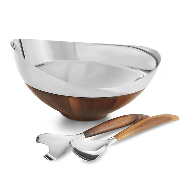 Nambé Pulse Salad Bowl with Servers