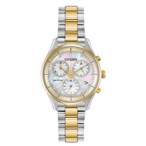 Citizen Chandler Ladies Chrono Eco-Drive White Dial Watch #1