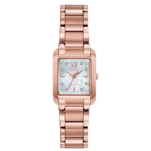 Citizen L Bianca Ladies Crystal Rose Gold-Tone Watch #1