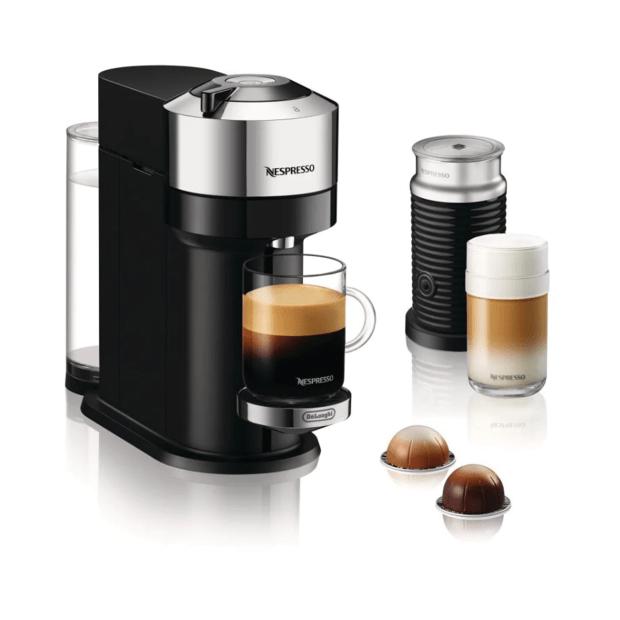 Nespresso Vertuo Next Coffee and Espresso Machine with Aeroccino - Chrome #1