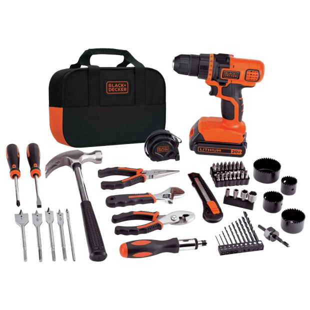 Black + Decker 20-Volt Lithium Drill and Project Kit