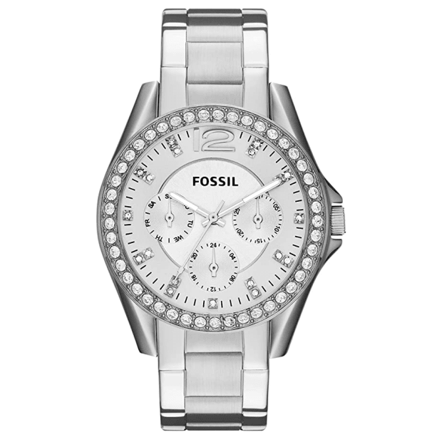 Fossil Women's Riley Silver Dial Stainless Steel Watch #1