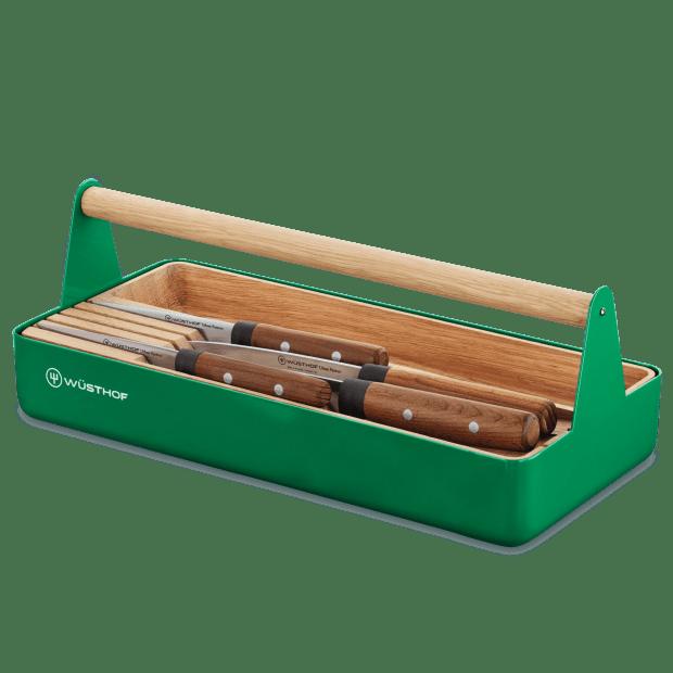Wüsthof Urban Farmer 5-Piece Knife Block Set in Natural Beech Tool Basket
