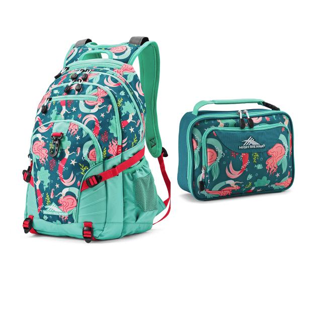 High Sierra Loop Mermaid Backpack and Single Compartment Lunch Bag #1