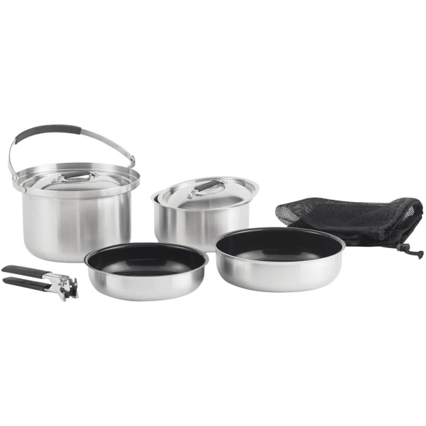 Lagostina® Campeggio 3-Ply Stainless Steel 8-Piece Camping Set #1