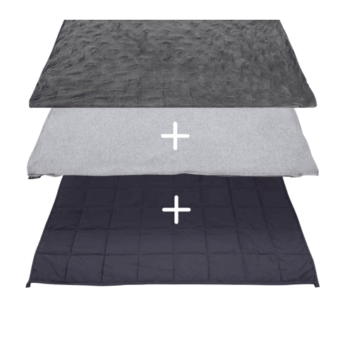 Hush® 2-in-1 Weighted Blanket Bundle: Summer & Winter - Charcoal Grey - King 90 x 90 - 30lb #1