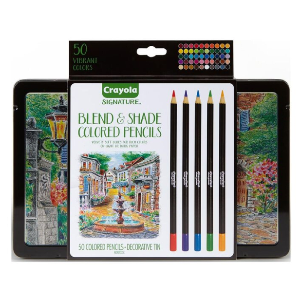 Crayola Signature Blend & Shade Colored Pencils - 50 Count #1