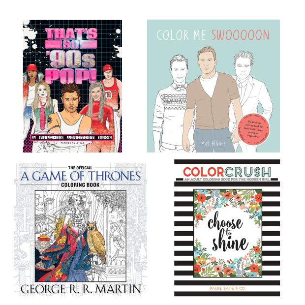 Adult Coloring Book Bundle - Set of 4 #1