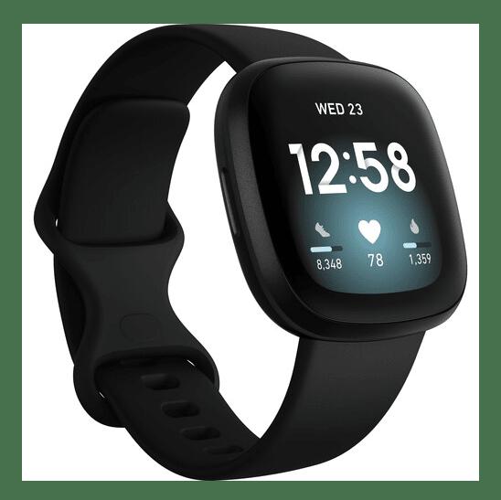 Fitbit Versa 3 Smartwatch - Black/Black Aluminum #1