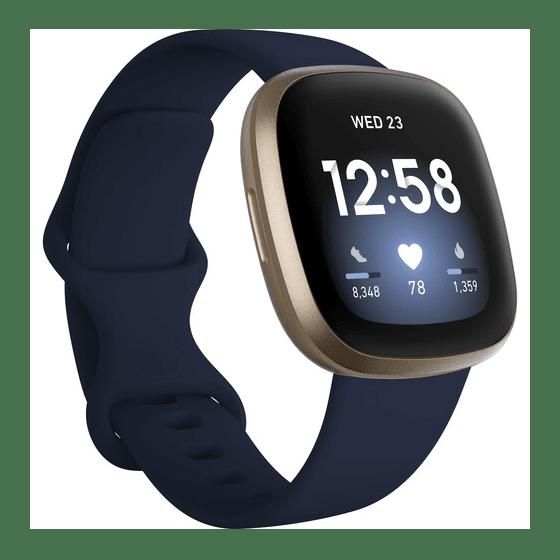Fitbit Versa 3 Smartwatch - Midnight/Soft Gold Aluminum #1