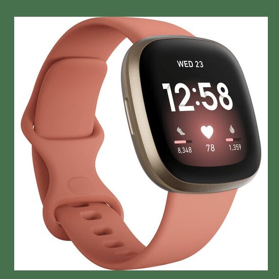 Fitbit Versa 3 Smartwatch - Pink Clay/Soft Gold Aluminum #1