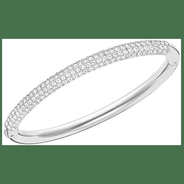 Swarovski Stone Bangle - Rhodium #1