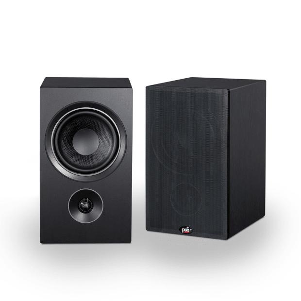 PSB Alpha P5 Bookshelf Speakers - Black Ash Woodgrain - Set of 2 #1