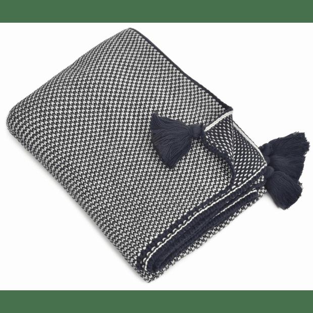 Merben International Jordan Navy Cotton Throw - 50'' x 60''