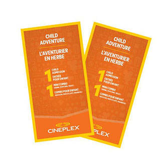 Cineplex Entertainment - Child Adventure (Package of 2)